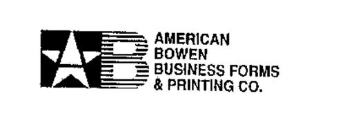 B AMERICAN BOWEN BUSINESS FORMS & PRINTING CO.