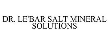 DR. LE'BAR SALT MINERAL SOLUTIONS
