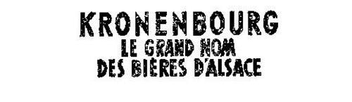 KRONENBOURG LE GRAND NOM DES BIERES D'ALSACE
