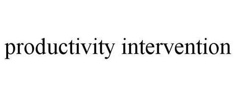 PRODUCTIVITY INTERVENTION