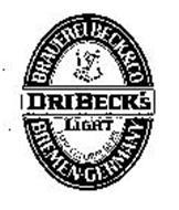DRIBECK'S LIGHT BRAUEREI BECK & CO BREMEN GERMANY LOW CALORIE BEER