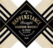 BOTTLED IN SAN DIEGO COUNTY, CA HAPPENSTANCE STRAIGHT BOURBON WHISKEY 90 PROOF 45% ALC. BY VOL. DOUBLE DISTILLED 750 ML