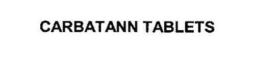 CARBATANN TABLETS