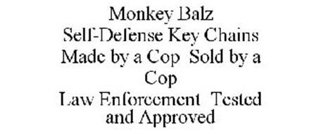 MONKEY BALZ SELF-DEFENSE KEY CHAINS MADE BY A COP SOLD BY A COP LAW ENFORCEMENT TESTED AND APPROVED