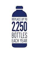 REPLACE UP TO 2,250 BOTTLES EACH YEAR