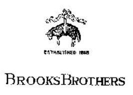 BROOKS BROTHERS ESTABLISHED 1818.