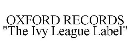 """OXFORD RECORDS """"THE IVY LEAGUE LABEL"""""""