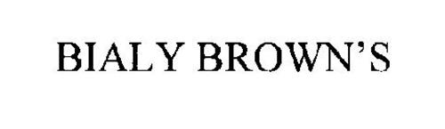 BIALY BROWN'S