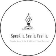 SPEAK IT. SEE IT. FEEL IT CREATE YOUR LIFE | ATTRACT YOUR DESTINY