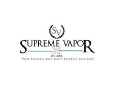 "SV SUPREME VAPOR EST.2014 ""YOUR FAVORITE VAPE SHOP'S FAVORITE VAPE SHOP"""