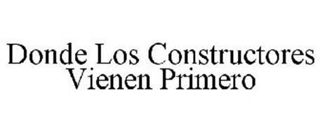 DONDE LOS CONSTRUCTORES VIENEN PRIMERO