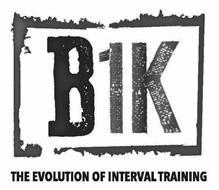 B1K THE EVOLUTION OF INTERVAL TRAINING