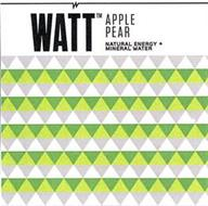 WATT TM APPLE PEAR NATURAL ENERGY + MINERAL WATER