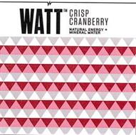 WATT TM CRISP CRANBERRY NATURAL ENERGY + MINERAL WATER