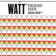 WATT TM PINEBERRY GUAVA NATURAL ENERGY + MINERAL WATER