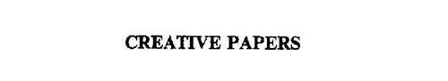 CREATIVE PAPERS