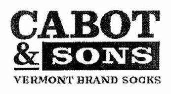 CABOT & SONS VERMONT BRAND SOCKS
