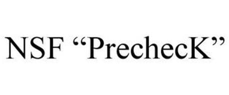 """NSF """"PRECHECK"""""""
