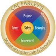 CAL FARLEY'S MODEL OF LEADERSHIP & SERVICE ADVENTURE PURPOSE BELONGING ACHIEVEMENT POWER SAFETY
