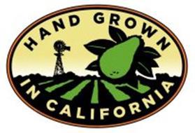 HAND GROWN IN CALIFORNIA