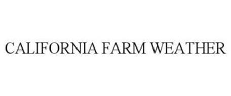 CALIFORNIA FARM WEATHER