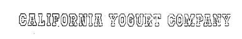 CALIFORNIA YOGURT COMPANY