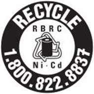 RECYCLE 1.800.822.8837 RBRC NI-CD