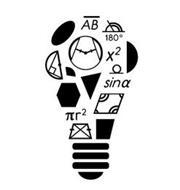 AB 180° X² SIN A R²