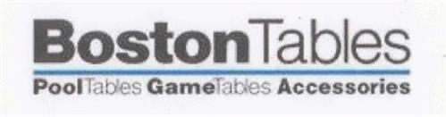 BOSTON TABLES POOLTABLES GAMETABLES ACCESSORIES