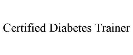 CERTIFIED DIABETES TRAINER