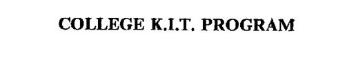 COLLEGE K.I.T. PROGRAM