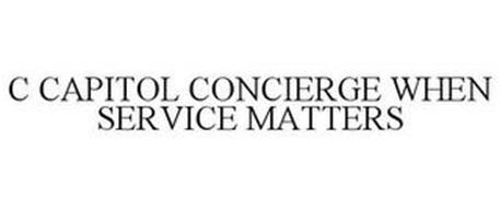 C CAPITOL CONCIERGE WHEN SERVICE MATTERS