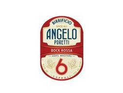 BIRRIFICIO ANGELO PORETTI SINCE 1877 BOCK ROSSA HOPS MASTERS 6 11.2 FL. OZ. LUPPOLI 330 ML BEER