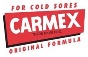CARMEX TRADE NAME REG. FOR COLD SORES ORIGINAL FORMULA