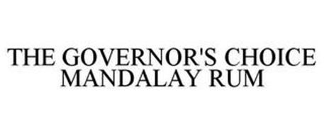 THE GOVERNOR'S CHOICE MANDALAY RUM
