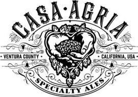 CASA · AGRIA SPECIALTY ALES · VENTURA COUNTY · CALIFORNIA, USA ·