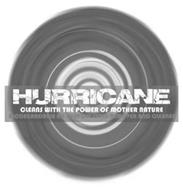 HURRICANE CLEANS WITH THE POWER OF MOTHER NATURE BIODEGRADABLE ALL PURPOSE STAIN REMOVER AND CLEANER