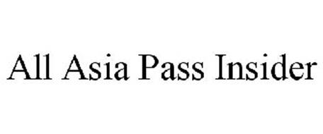 ALL ASIA PASS INSIDER