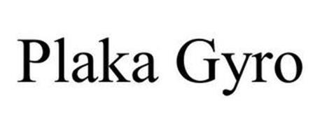 PLAKA GYRO