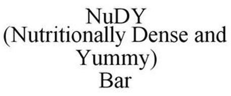 NUDY (NUTRITIONALLY DENSE & YUMMY) BAR