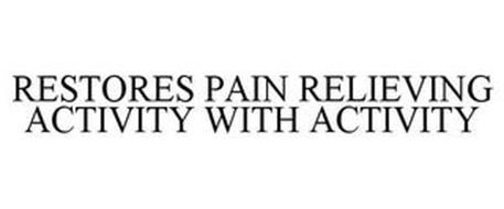 RESTORES PAIN RELIEVING ACTIVITY WITH ACTIVITY