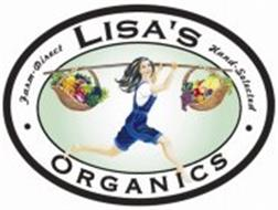 LISA'S ORGANICS · FARM-DIRECT HAND-SELECTED ·