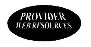 PROVIDER WEB RESOURCES