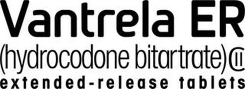 VANTRELA ER ( HYDROCODONE BITARTRATE) EXTENDED-RELEASE TABLETS