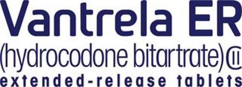 VANTRELA ER (HYDROCODONE BITARTRATE) EXTENDED-RELEASE TABLETS