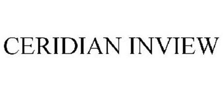 ceridian inview trademark of ceridian corporation serial