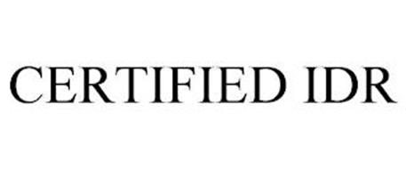 CERTIFIED IDR