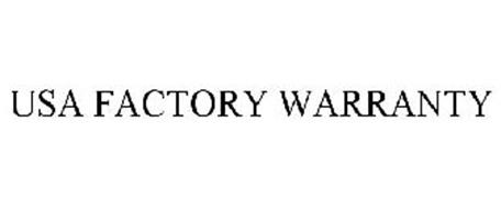 USA FACTORY WARRANTY
