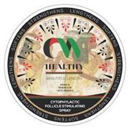CW HEALTHY BEAUTIFUL LENGTH GROWTH GURANTEED 100% ORGANIC CYTOPHYLACTIC FOLLICLE STIMULATING SPRAY LENGTHENS SOFTENS STRENGTHENS