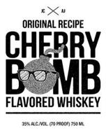 JC AJ ORIGINAL RECIPE CHERRY BOMB FLAVORED WHISKEY 35% ALC./VOL. (70 PROOF) 750 ML